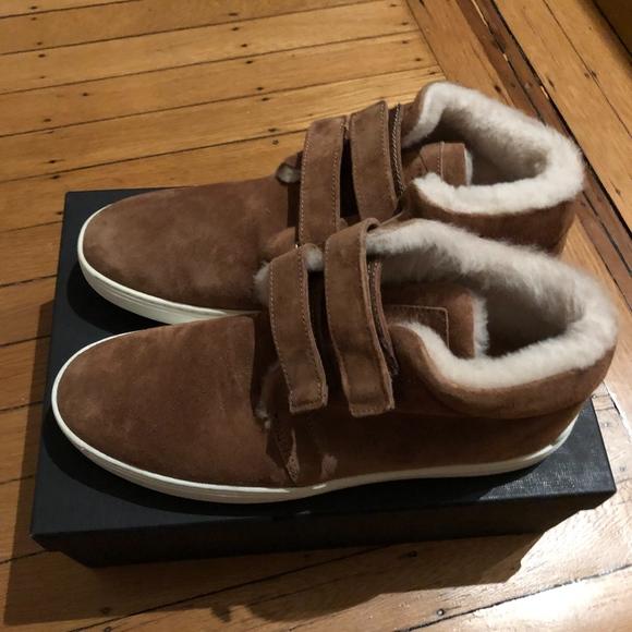 Kent Desert Shearling Sneakers Nwt
